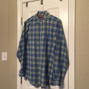 Roper blue plaid shirt